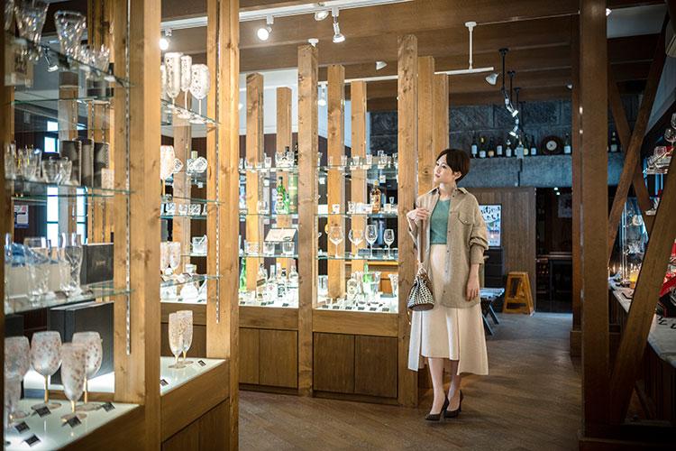 小樽を中心に北海道内に15店舗ある大正硝子 前田敦子さん