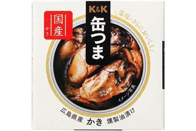 缶つま 広島県産 かき燻製油漬け