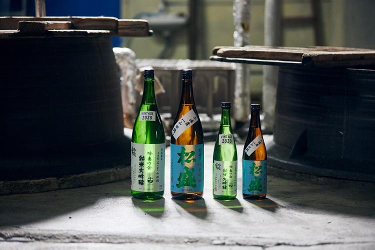 「松盛 純米吟醸」と「常名 純米大吟醸」は香りが高く、味も濃厚
